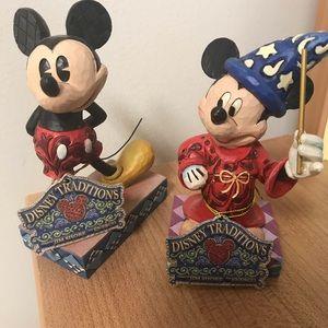 2 Mickey Jim Shore Collectibles